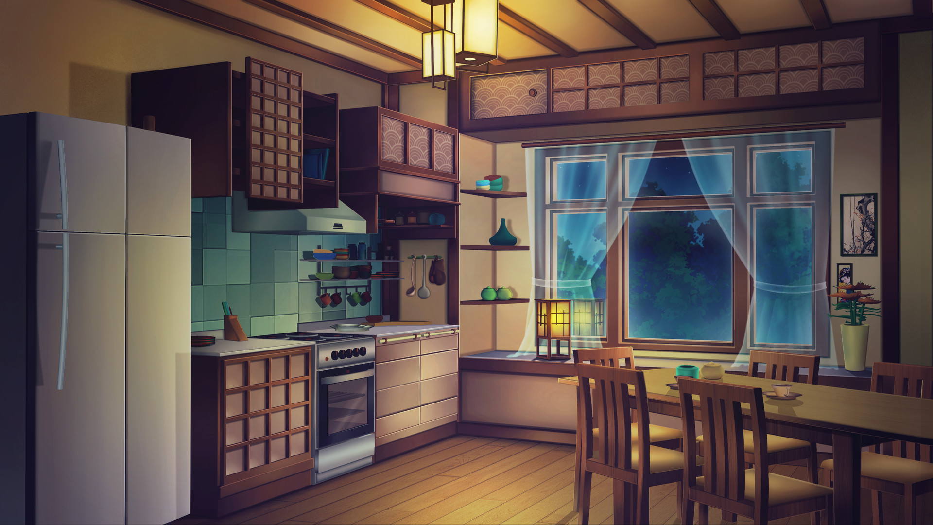 Artstation Visual Novel Background Aiko San