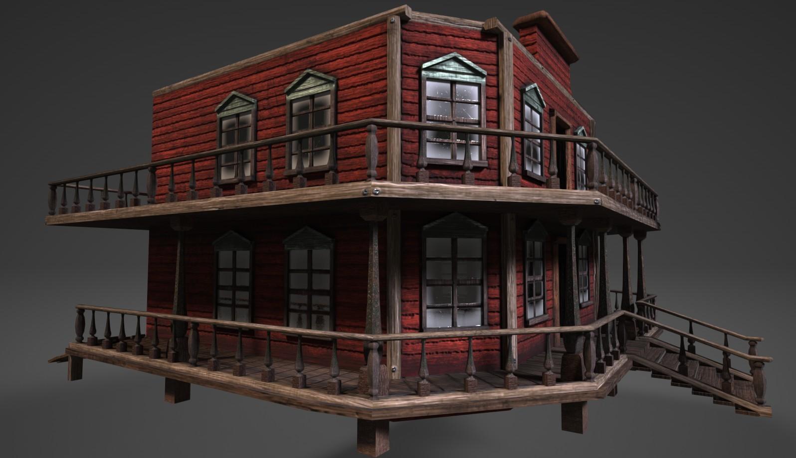 Home Plan Designer Ruben Van Bladel Wild West Saloon