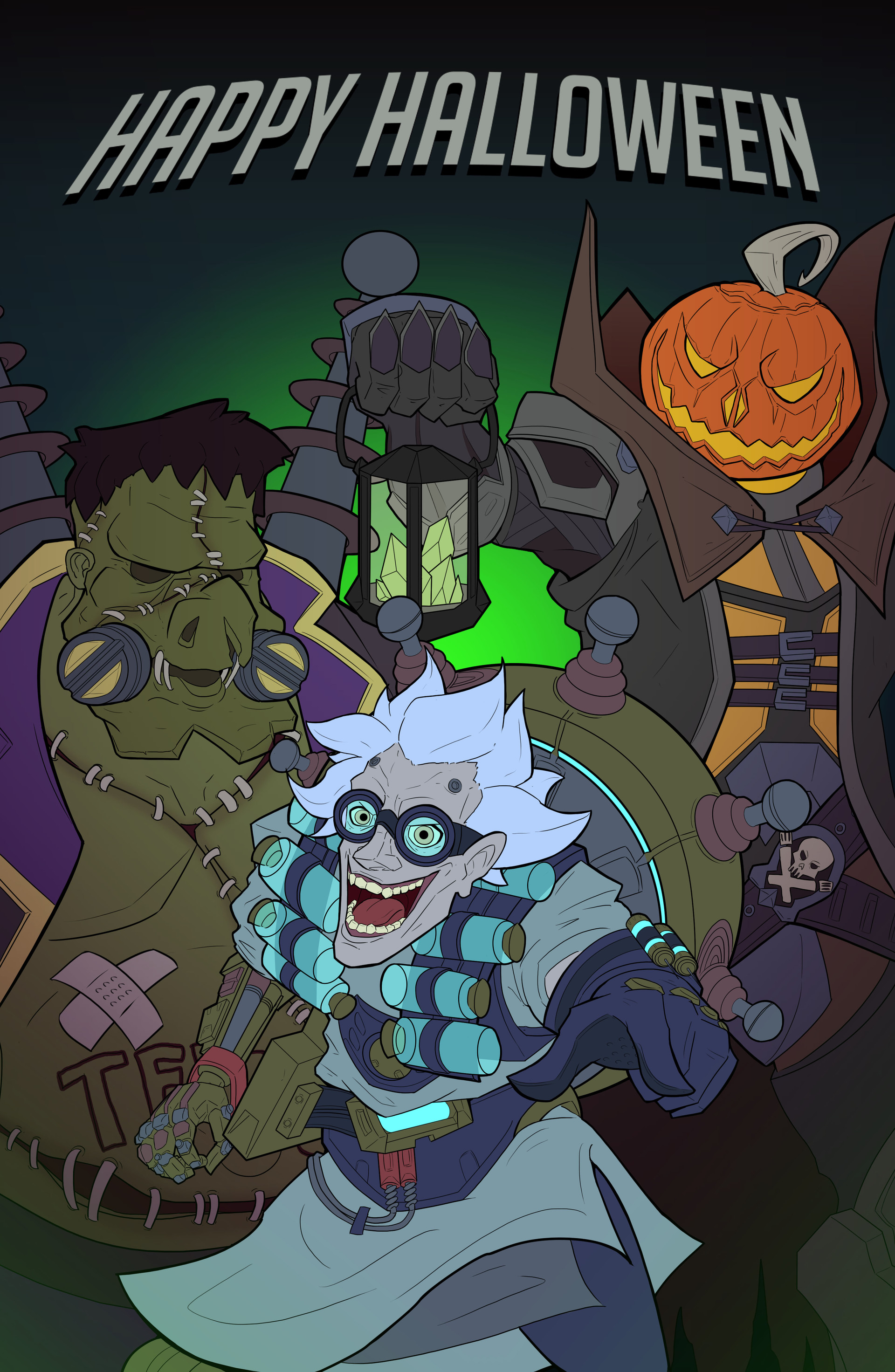 ArtStation - Overwatch Halloween, William Puekker