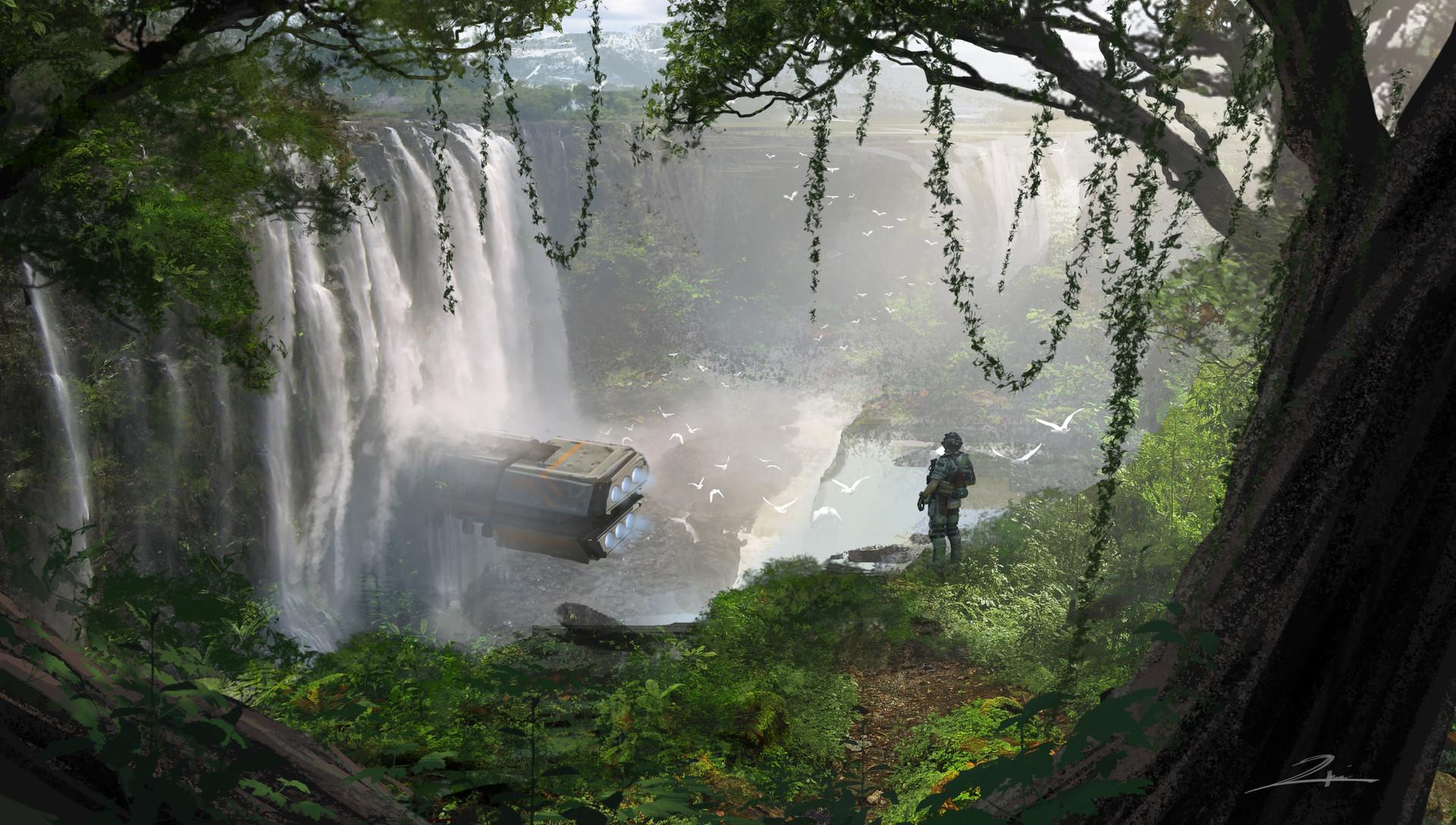 Tu bui beauty wild waterfall entrance tb 01