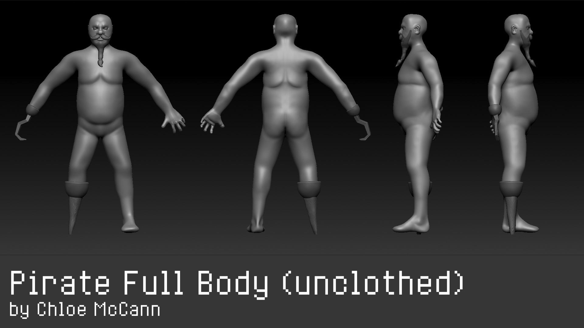 Chloe mccann full body unclothed