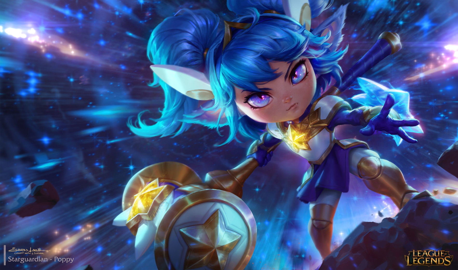 Artstation Star Guardian Poppy Esben Lash Rasmussen