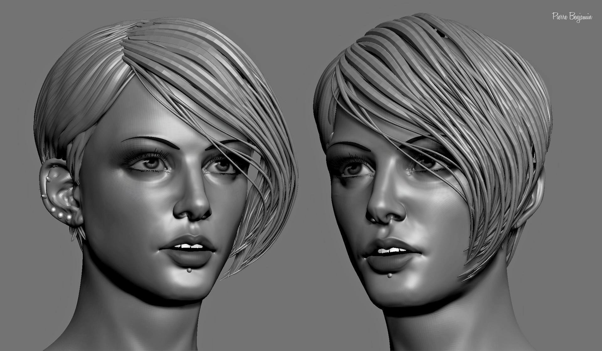 Pierre benjamin stylish woman short hair sculpt 003