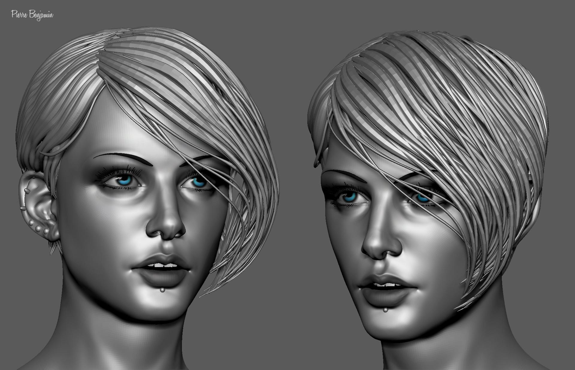 Pierre benjamin stylish woman short hair sculpt 005