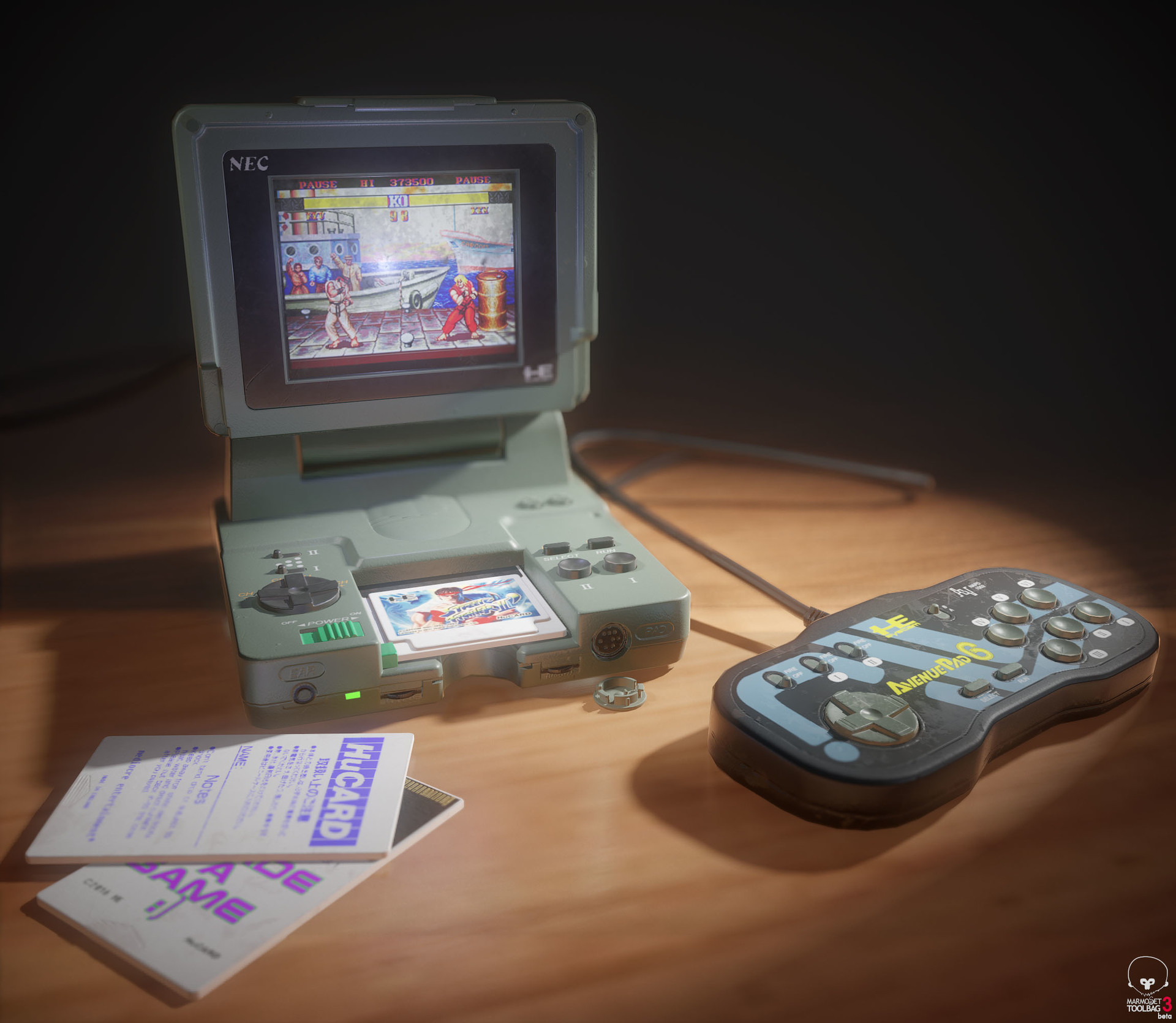 ArtStation - Pc Engine LT With Street Fighter 2, stephen dalzell