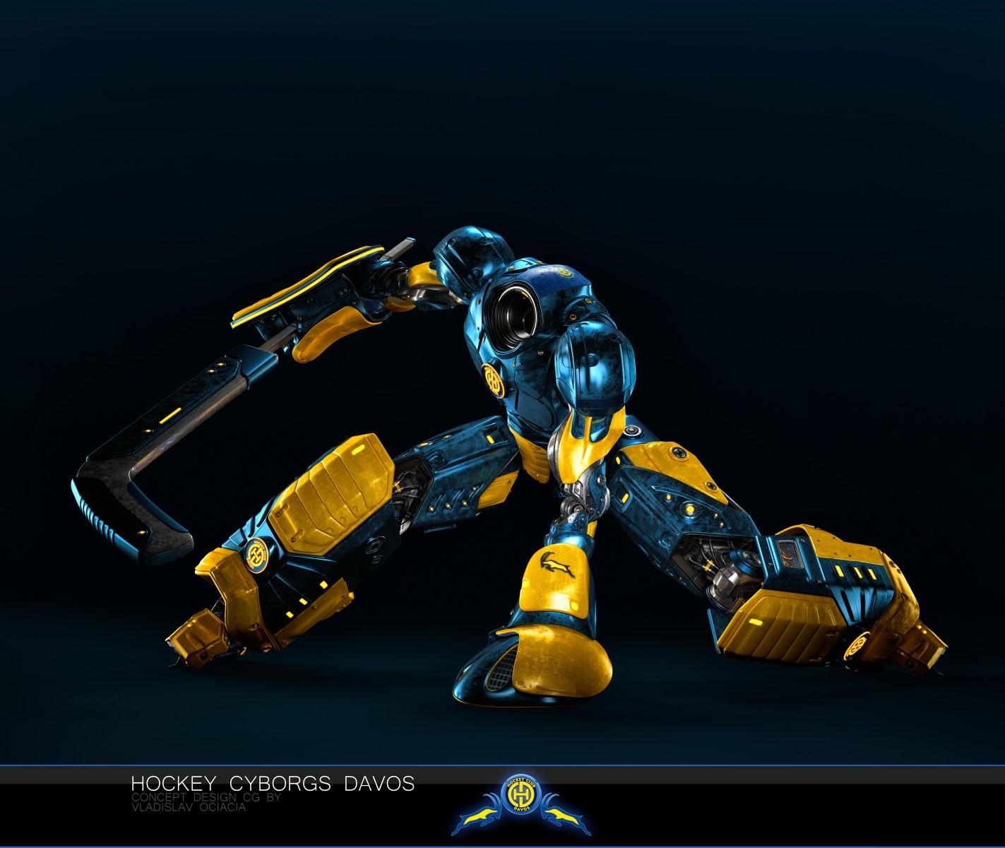 Vladislav ociacia hockey player robots 17