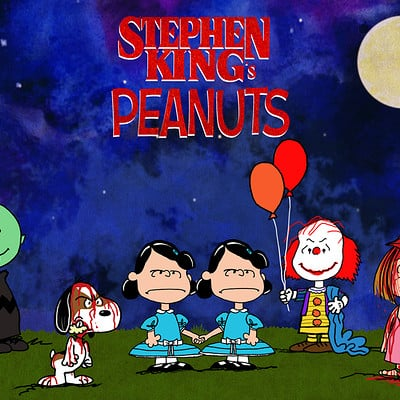 Hal hefner stepehn king and peanuts mashup 2