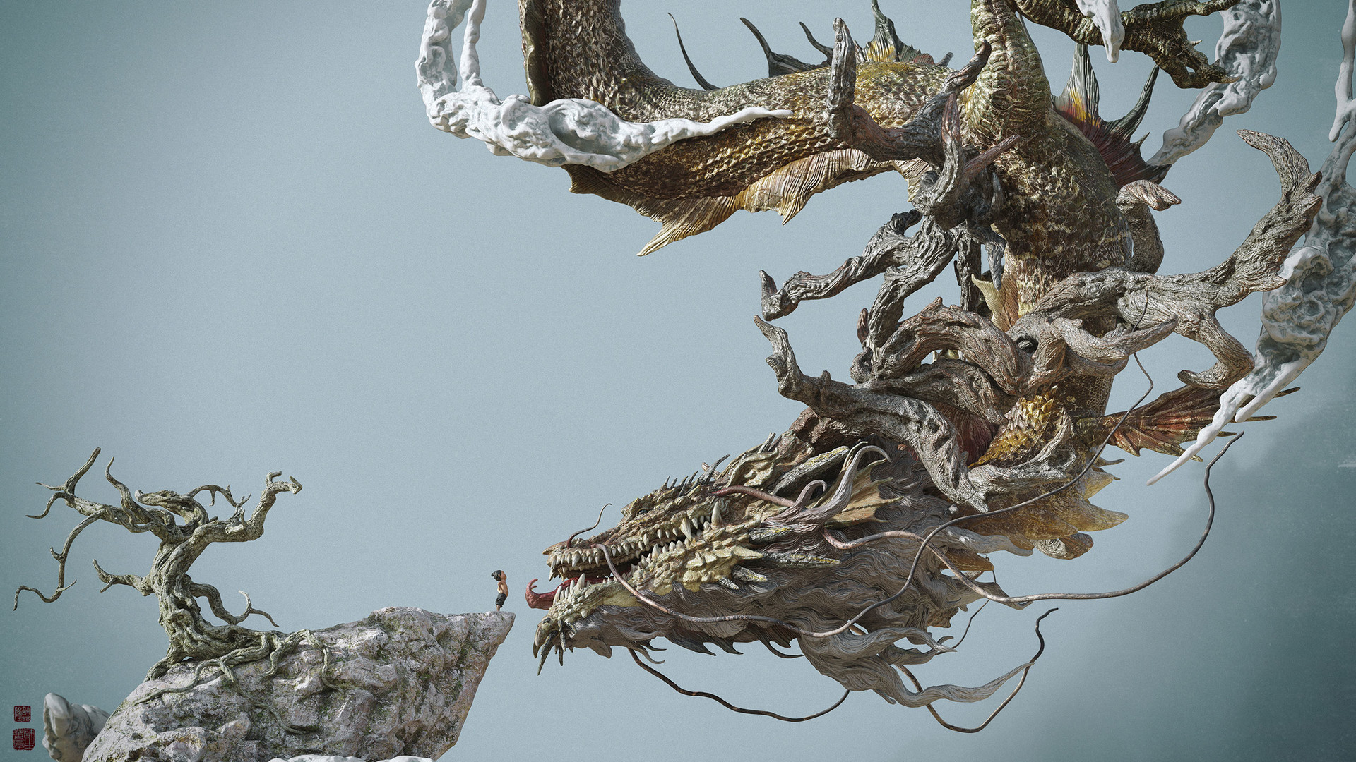 Zhelong xu boy face to the dragon web03
