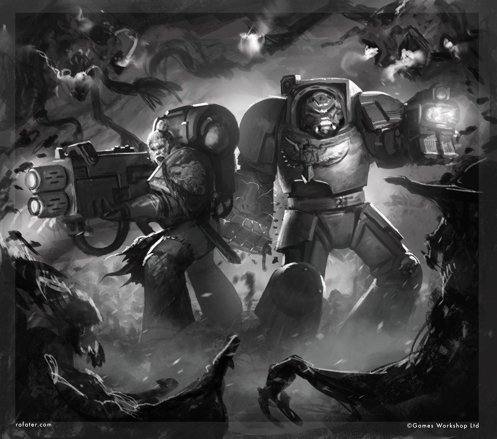 Rafael teruel vox tenebris warhammer 40k rafater sketch