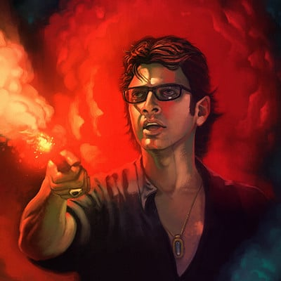Travis lacey jeff goldbloom jp jurassic park ian malcolm art design large