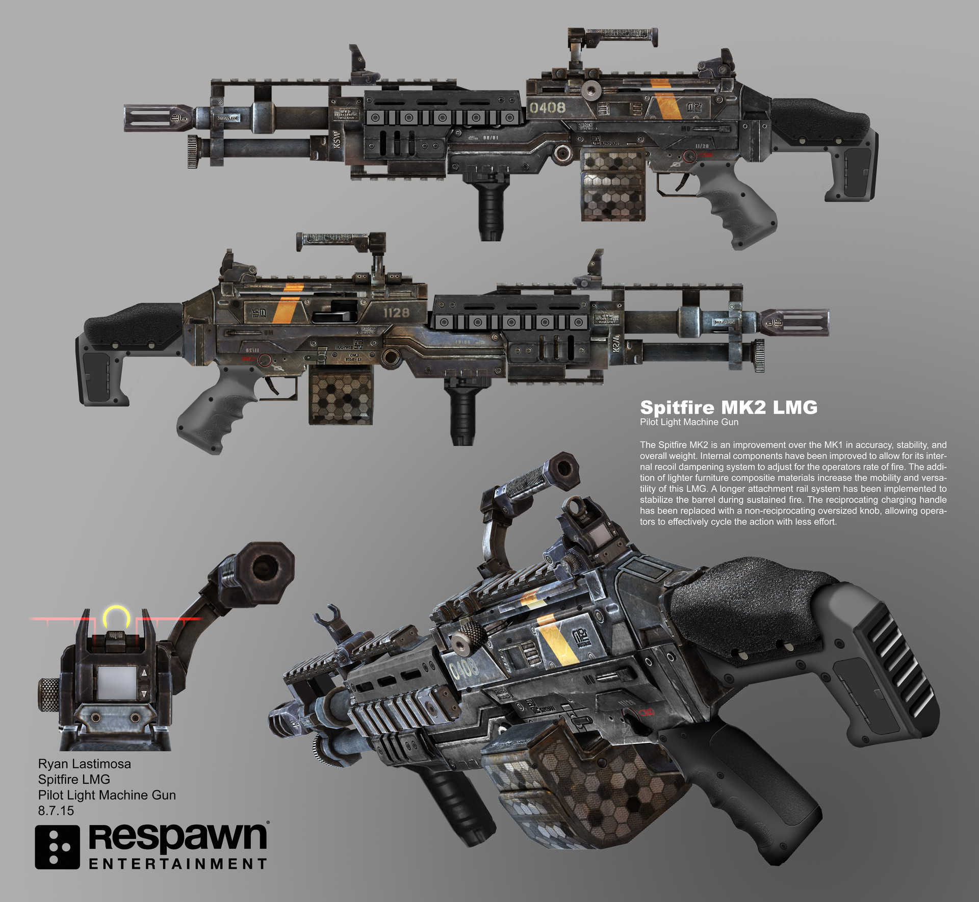 ArtStation - Titanfall 2 Spitfire MK2 Light Machine Gun, Ryan Lastimosa