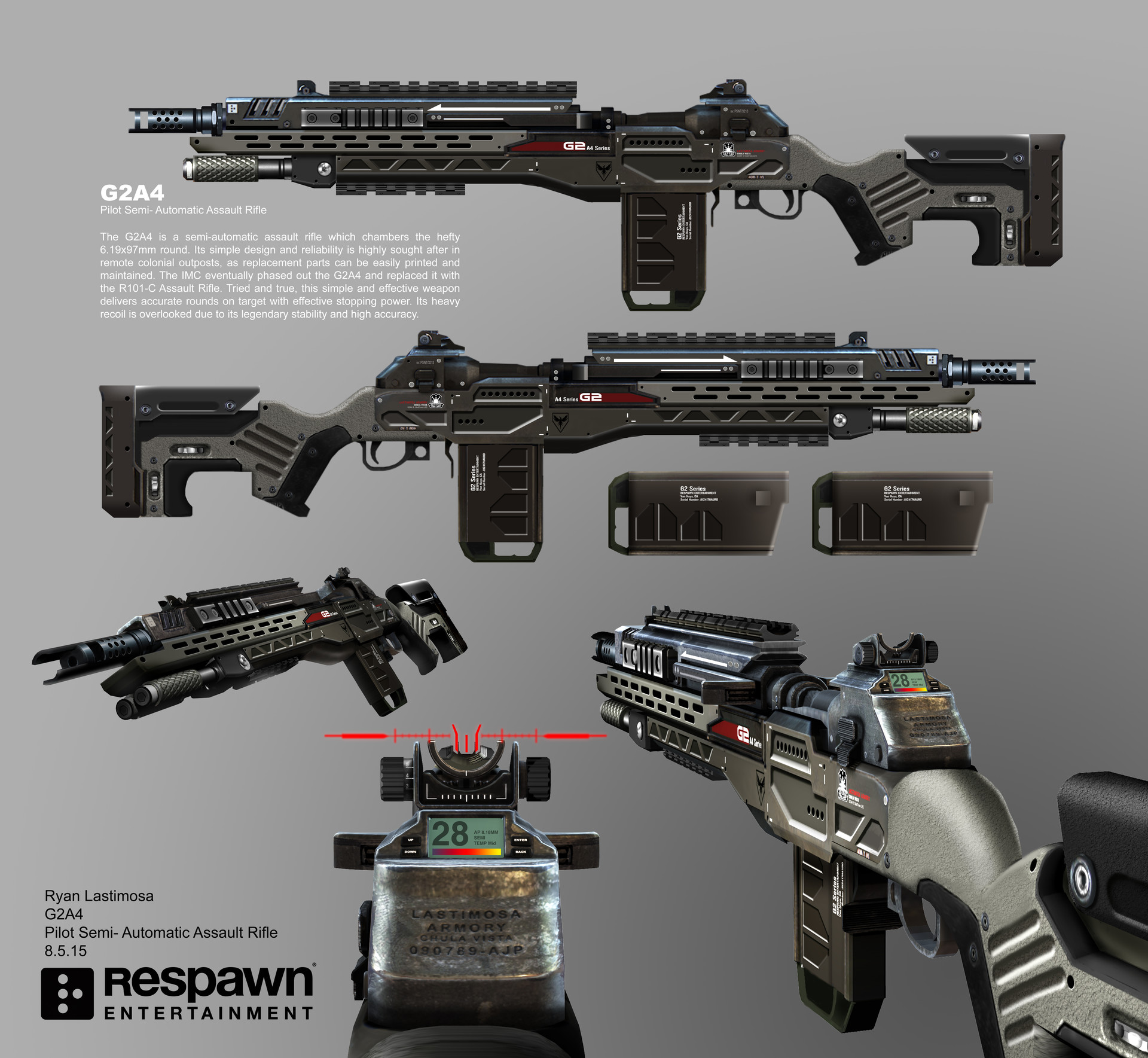 ArtStation - Titanfall 2 G2A5 Battle Rifle, Ryan Lastimosa