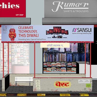 Rajesh sawant bus stop2