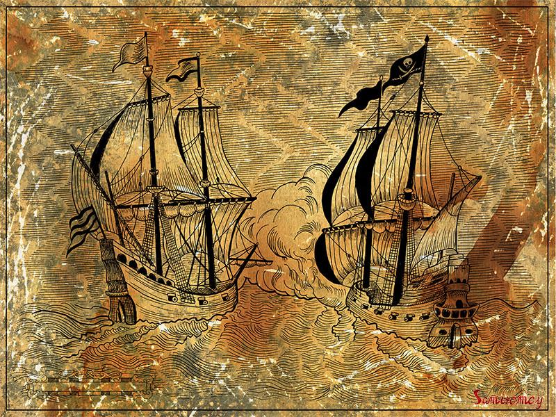 vera petruk samiramay engraved illustration of old sailing ships