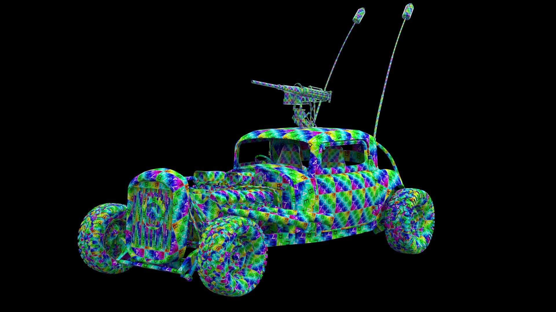 Artstation Mad Max War Boys Car Elvis Low Poly Wip Javis Jones Engine Diagram Finished Model W Uvs