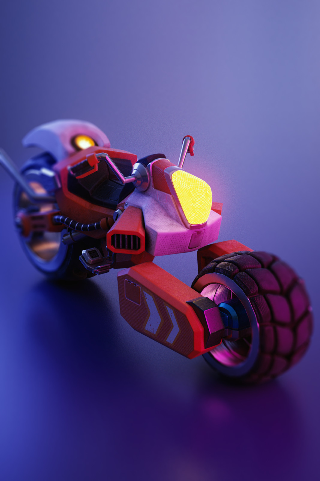 Futuristic Motorcycle (WIP)