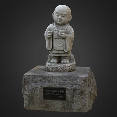 Vlx kuzmin monk granite statue 1