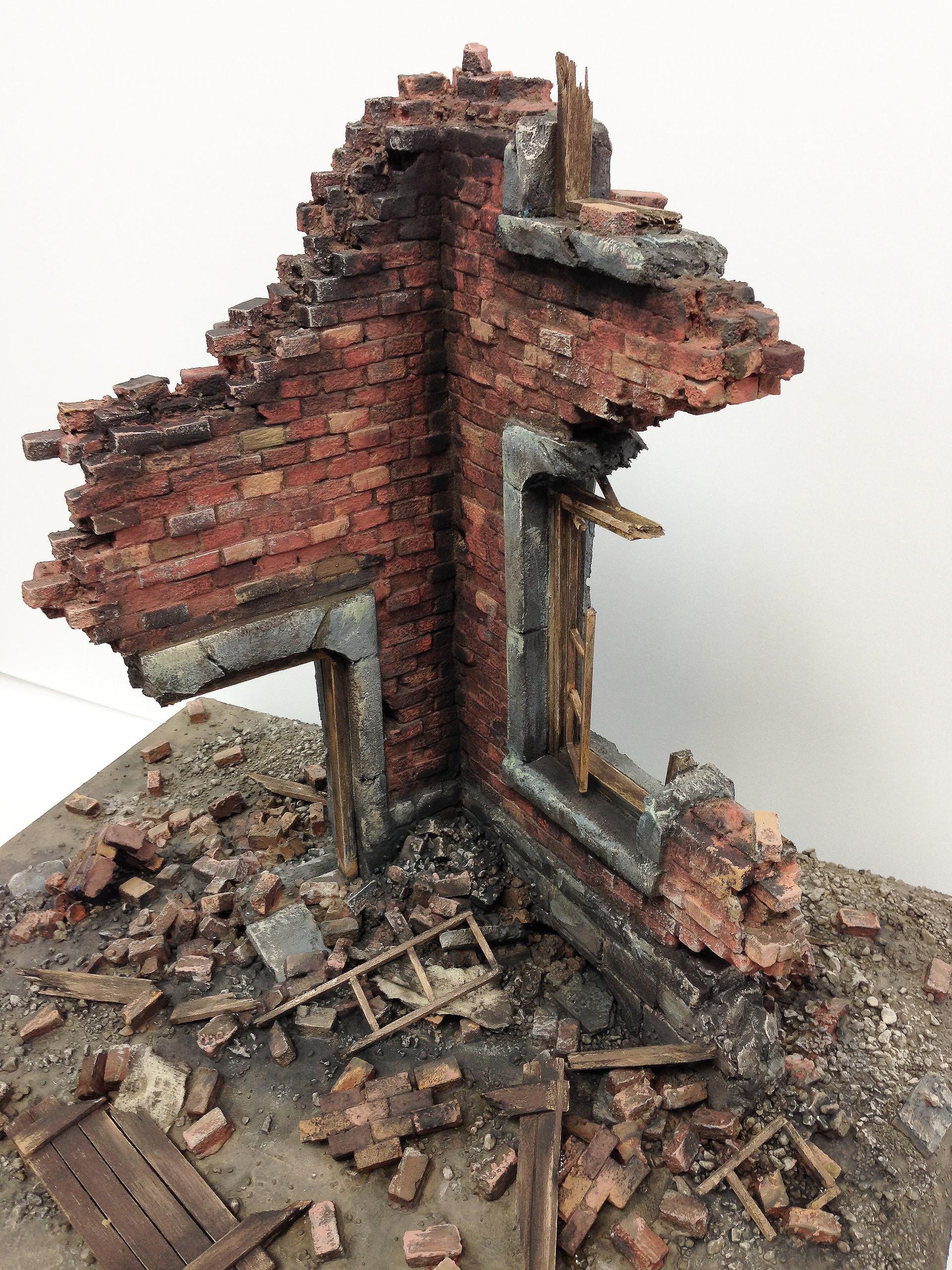 Miyeon Kim Diorama Destroyed Building