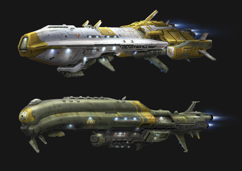 Hethe Srodawa Titanfall 2 Ship Concepts