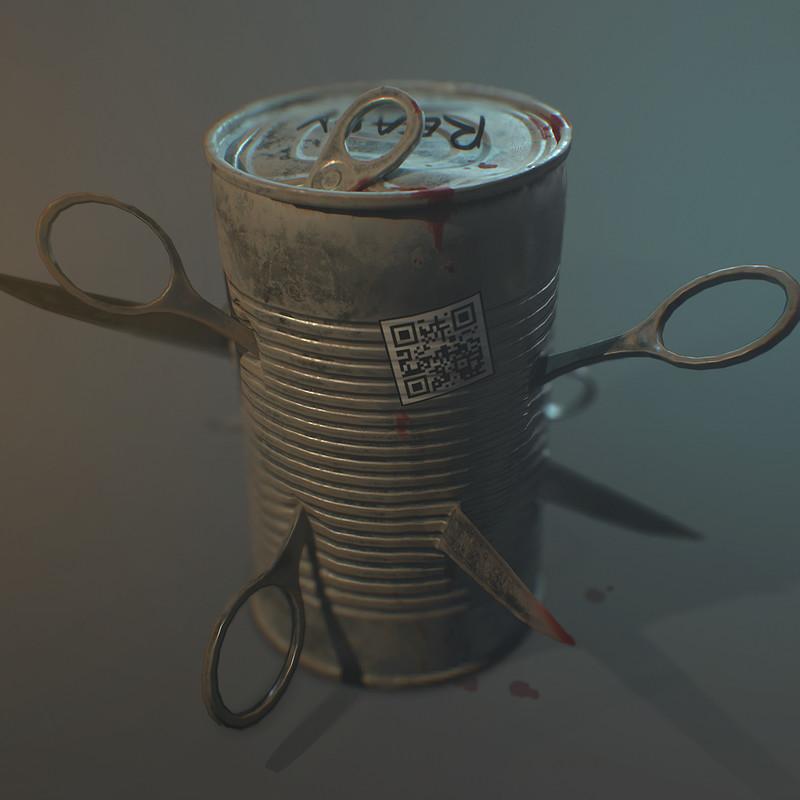 Scissors explosive