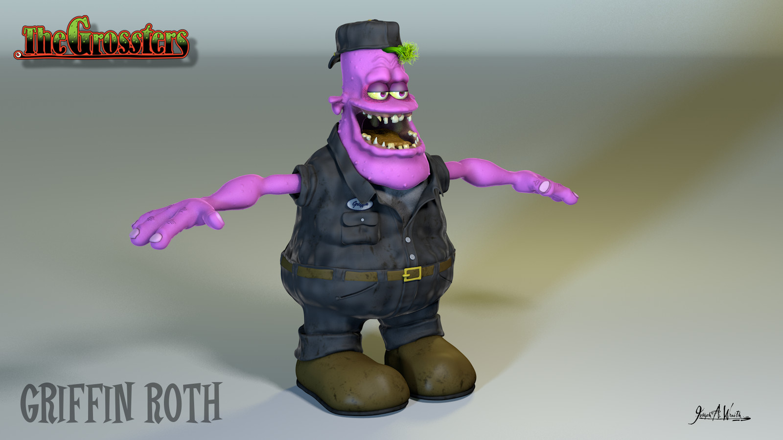 The Grossters - Character: Griffin Roth - 3d ©2016 Copyright, Joseph A. Wraith