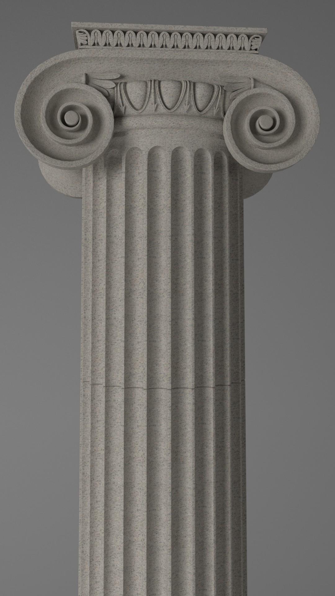 ArtStation - Column - Ionic Order, Iulian Duma