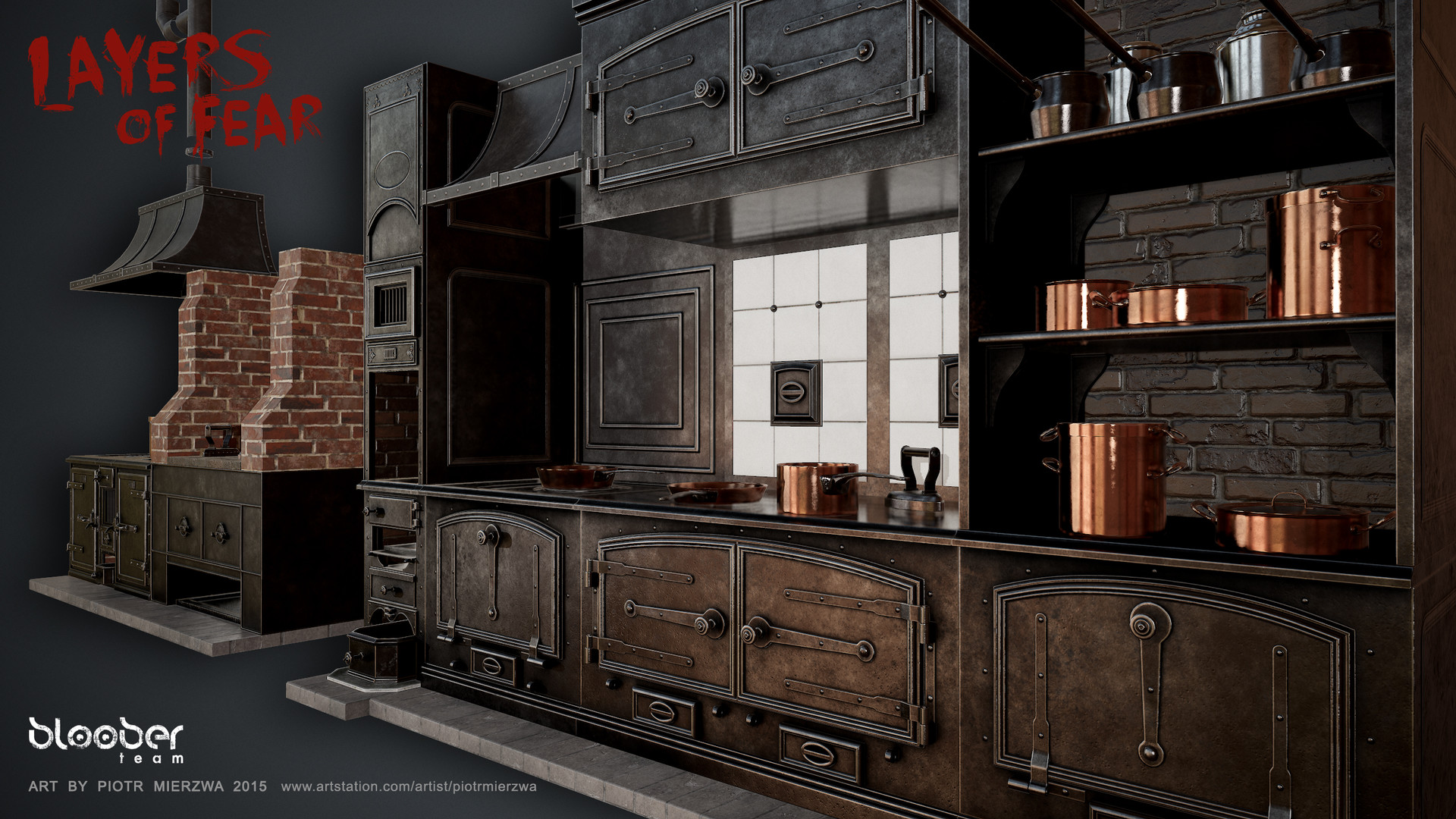 Piotr mierzwa victorian kitchen set layers of fear for House kitchen set
