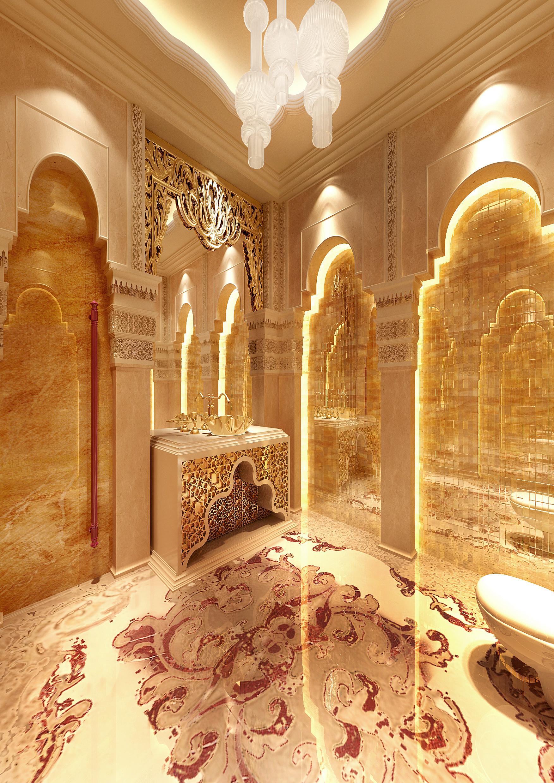 Usmaan mukhtar moroccan villa saudi arabia for Villa majlis interior design