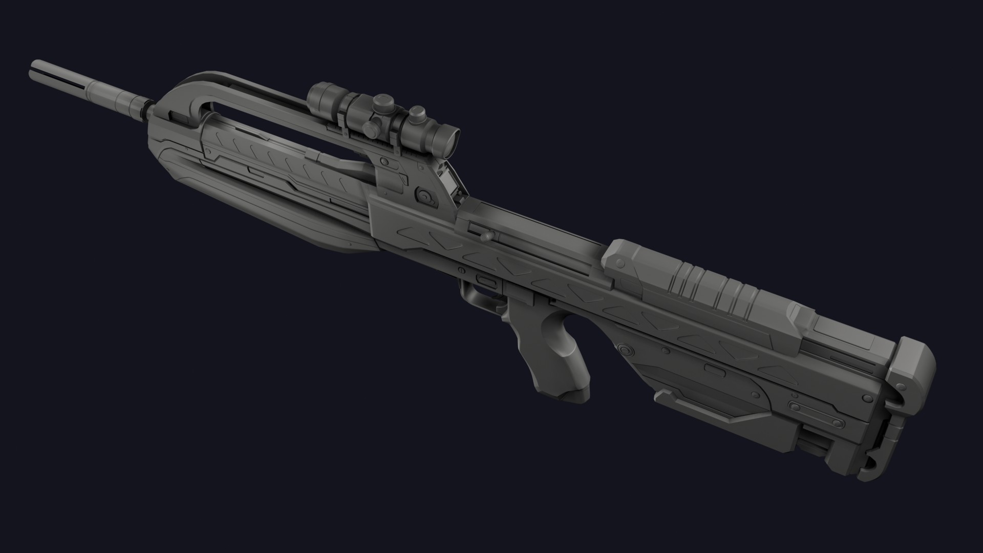 Jared Harris Halo 2 Anniversary Br 55 Battle Rifle