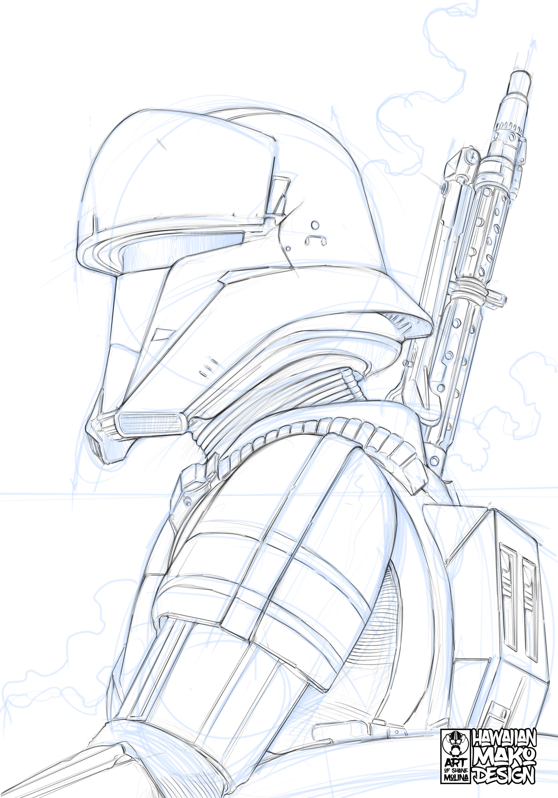 Shane molina tank trooper sketch
