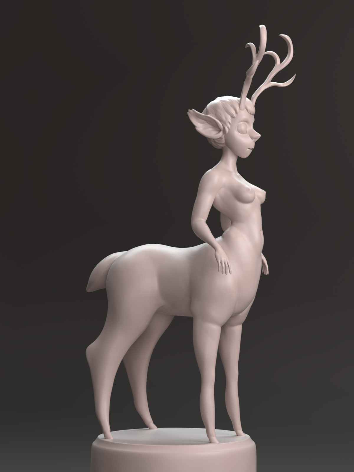Sculpt rendered in Cycles