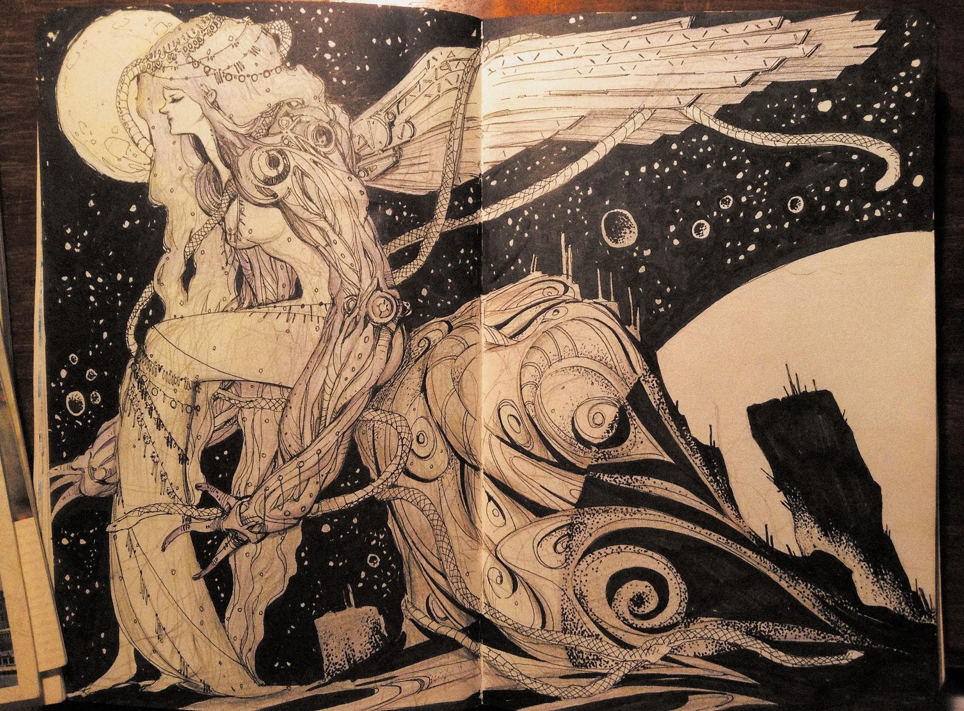 Yujin choo galaxyangel sketch