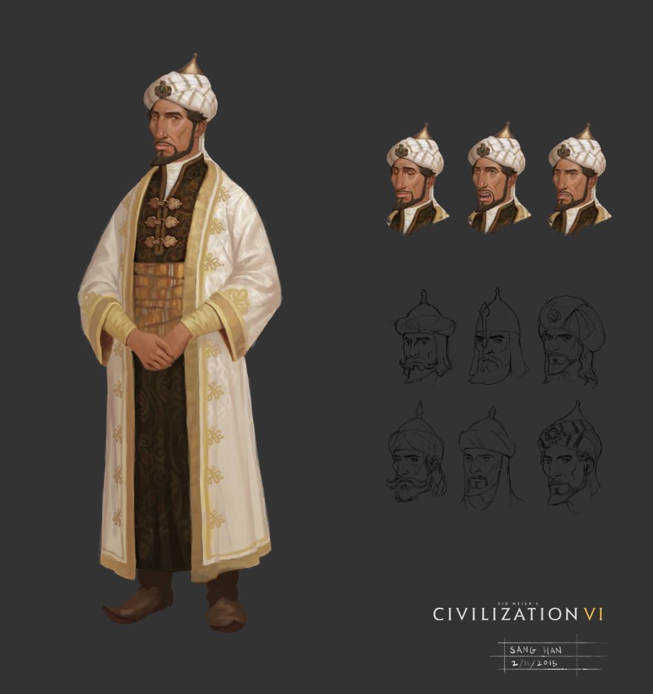 Civ 6 Leader Saladin