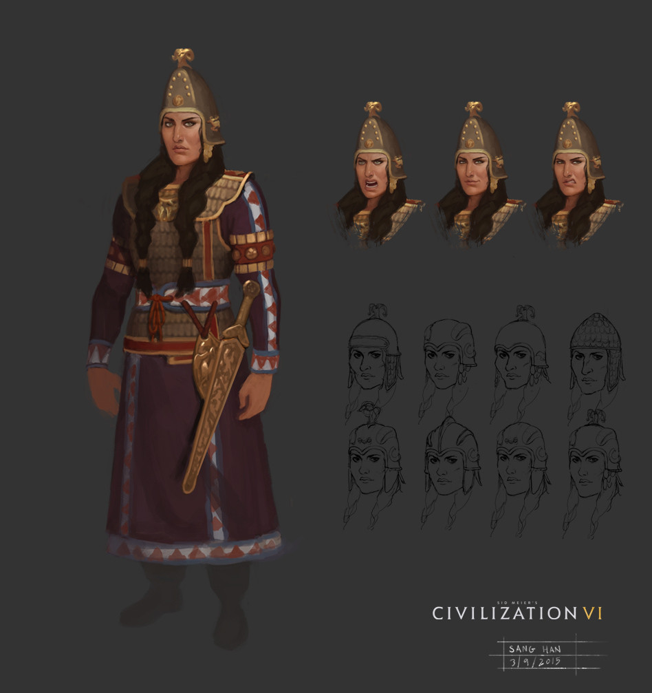 Civ 6 Leader Tomyris
