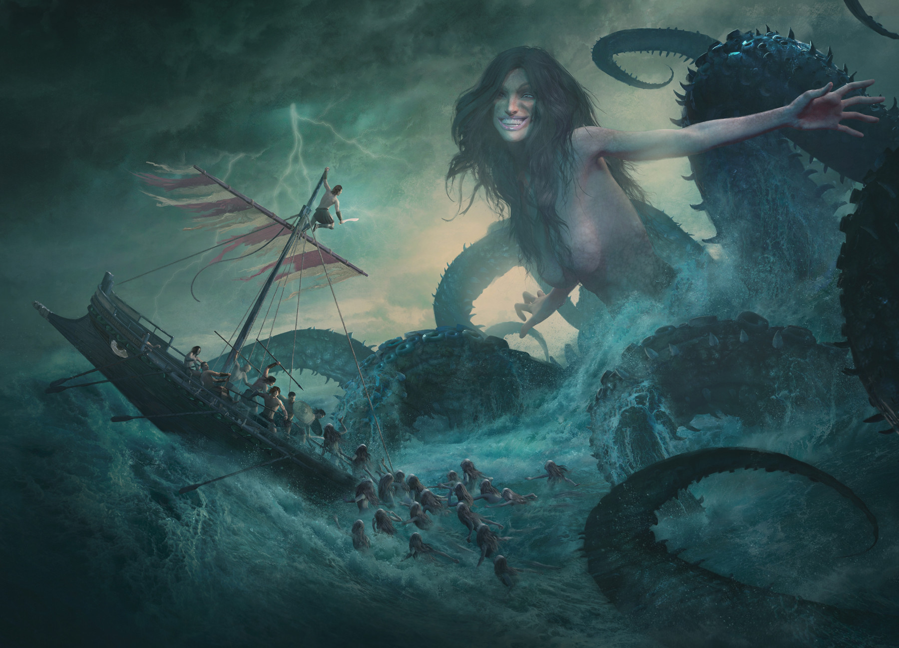Guillem h pongiluppi board cover mythic battles poseidon