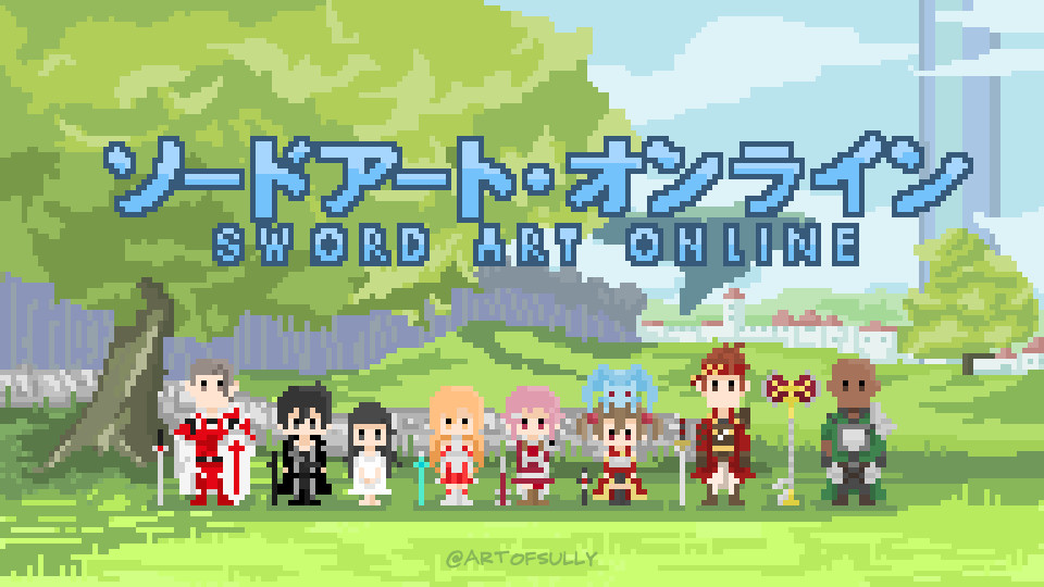'Players of Aincrad' - Sword Art Online Pixel Art