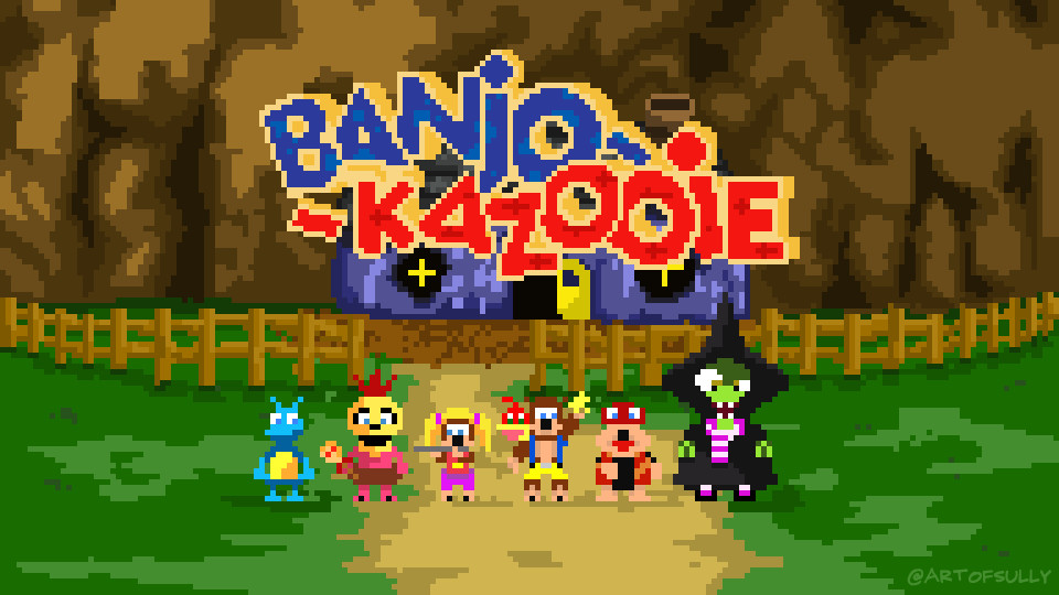 'Golden Jiggy' - Banjo-Kazooie Pixel Art