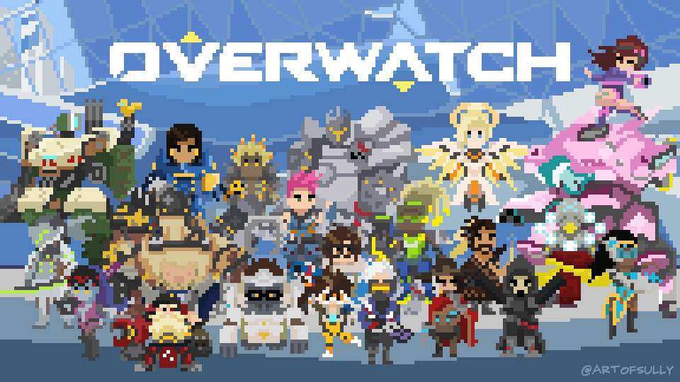 'The World Needs Heroes' - Overwatch Pixel Animation