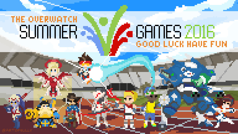 'Summer Games 2016' - Overwatch Pixel Art