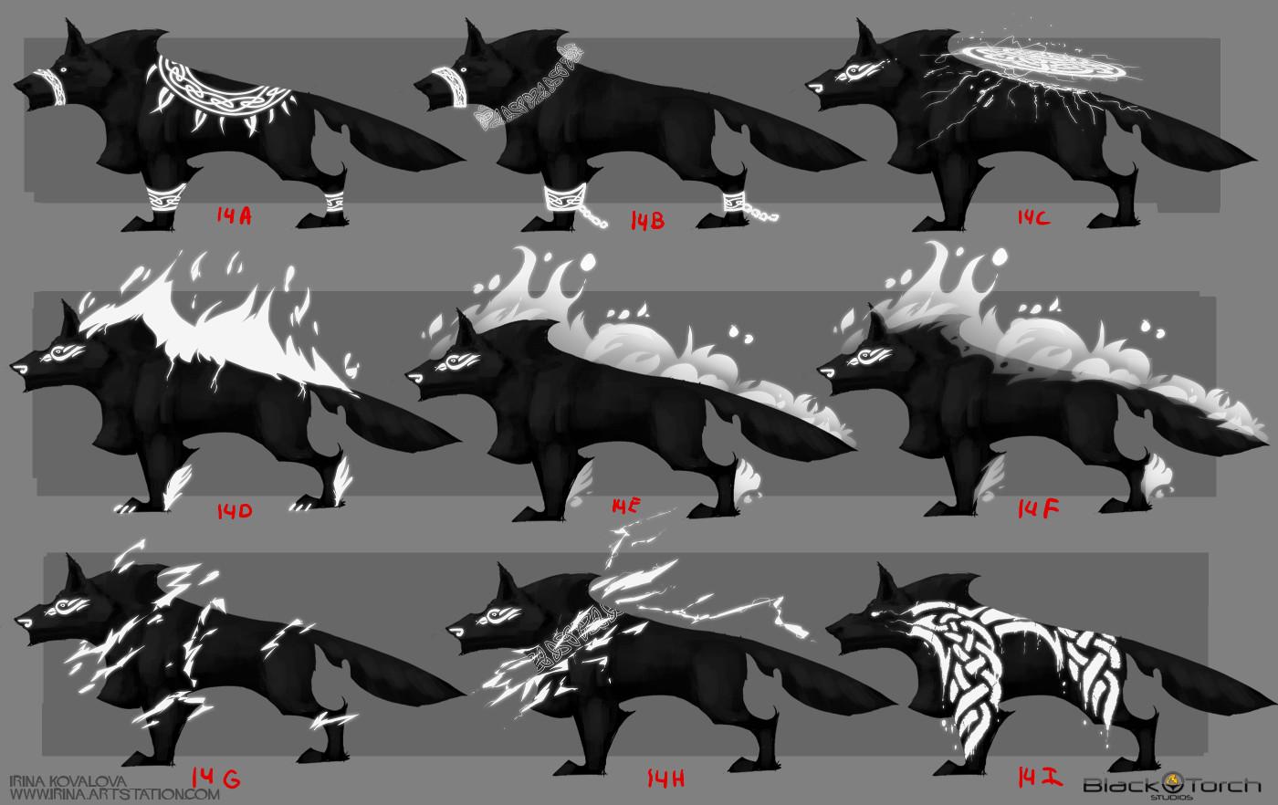 Irina kovalova bts wolf conceptart ikovalova 6