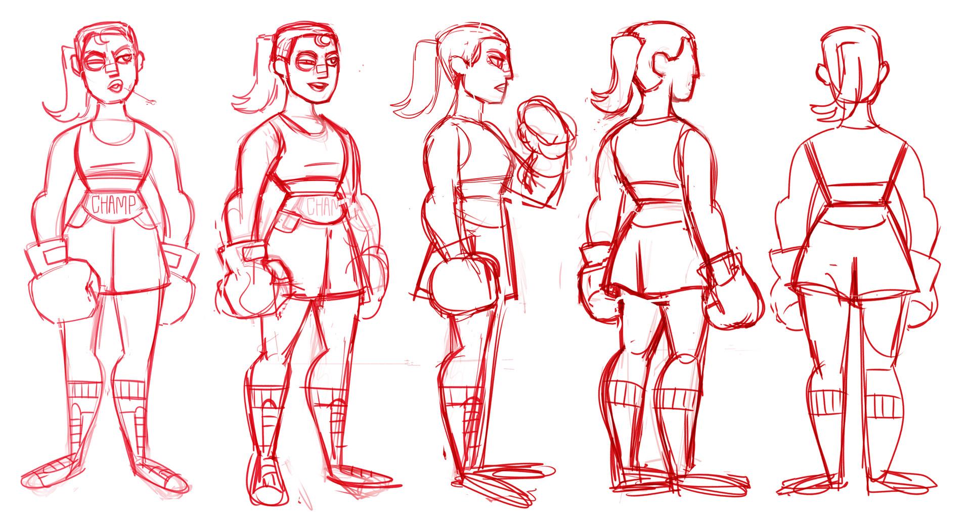 Alice hamel rotation perso samurai jack sketch
