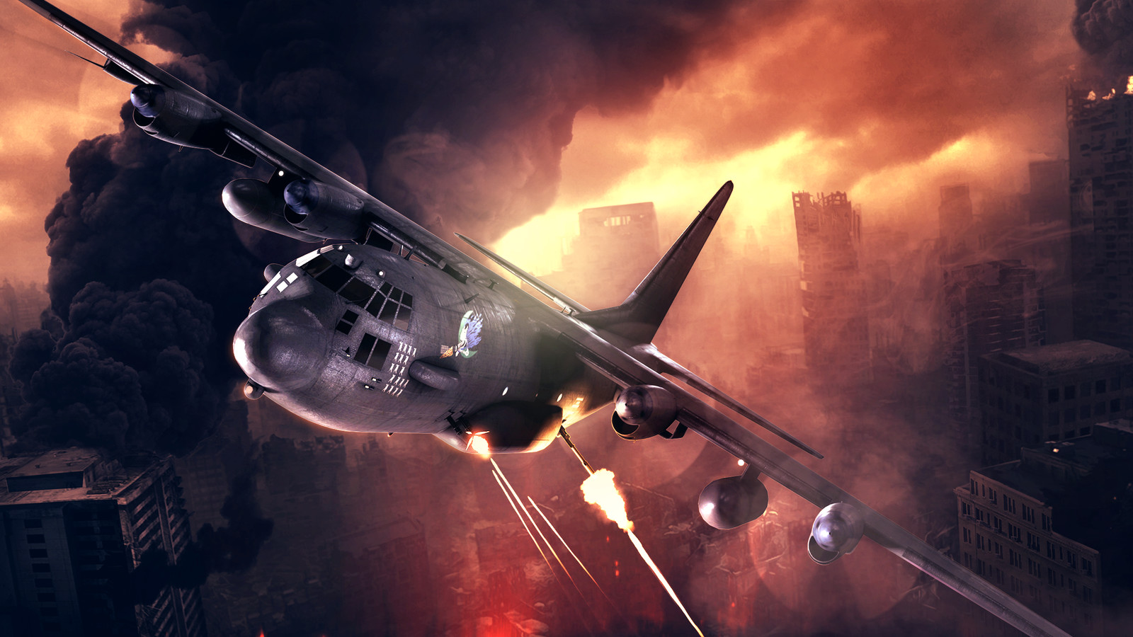 Zombie Gunship Survival Key Art