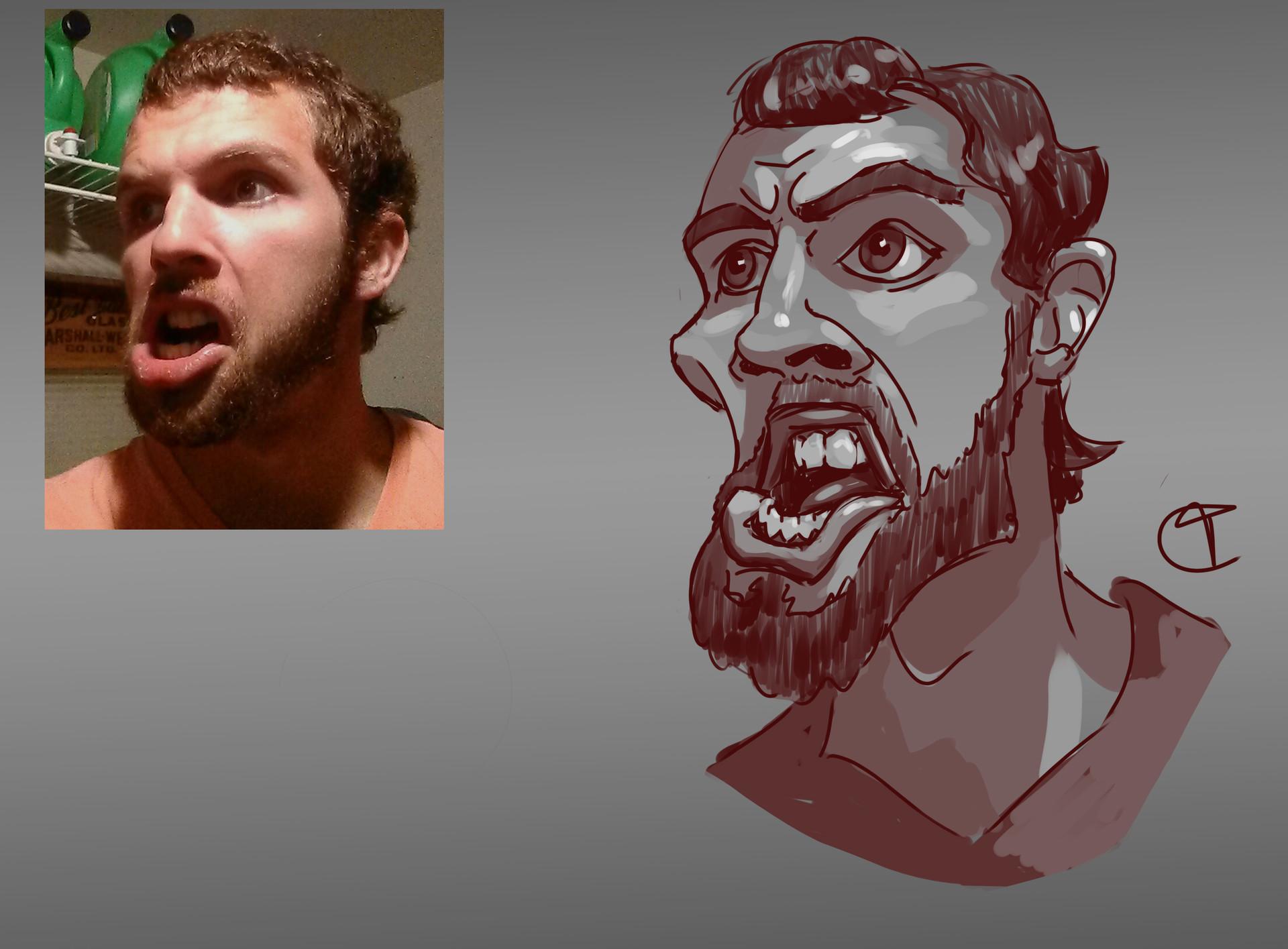 Travis clarke red travis caricatures