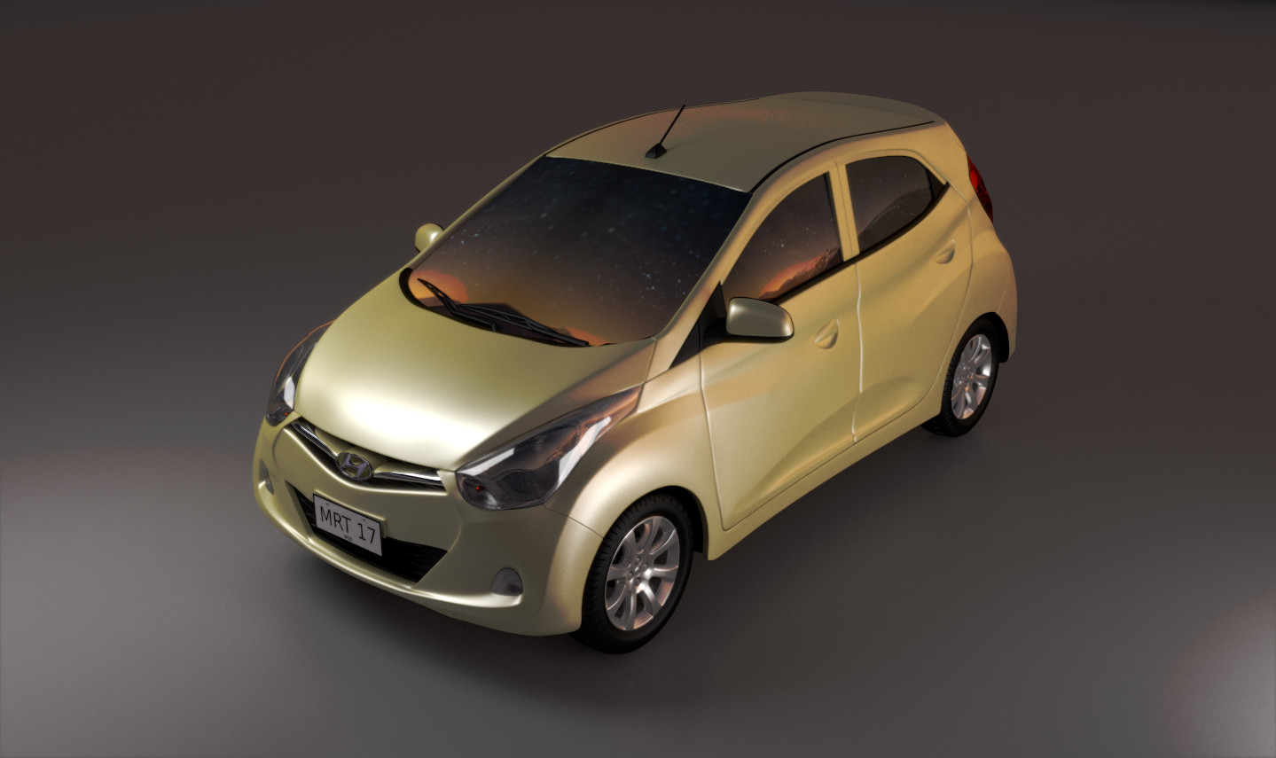 The Hyundai Eon, the car that I own and drive everyday. I thought that the design was awesome so I modeled and rendered it. The Eon is (c) Hyundai Corporation.