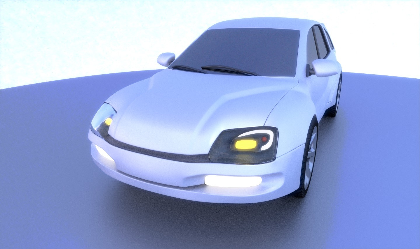 Another render of the concept car with a different lighting setup.