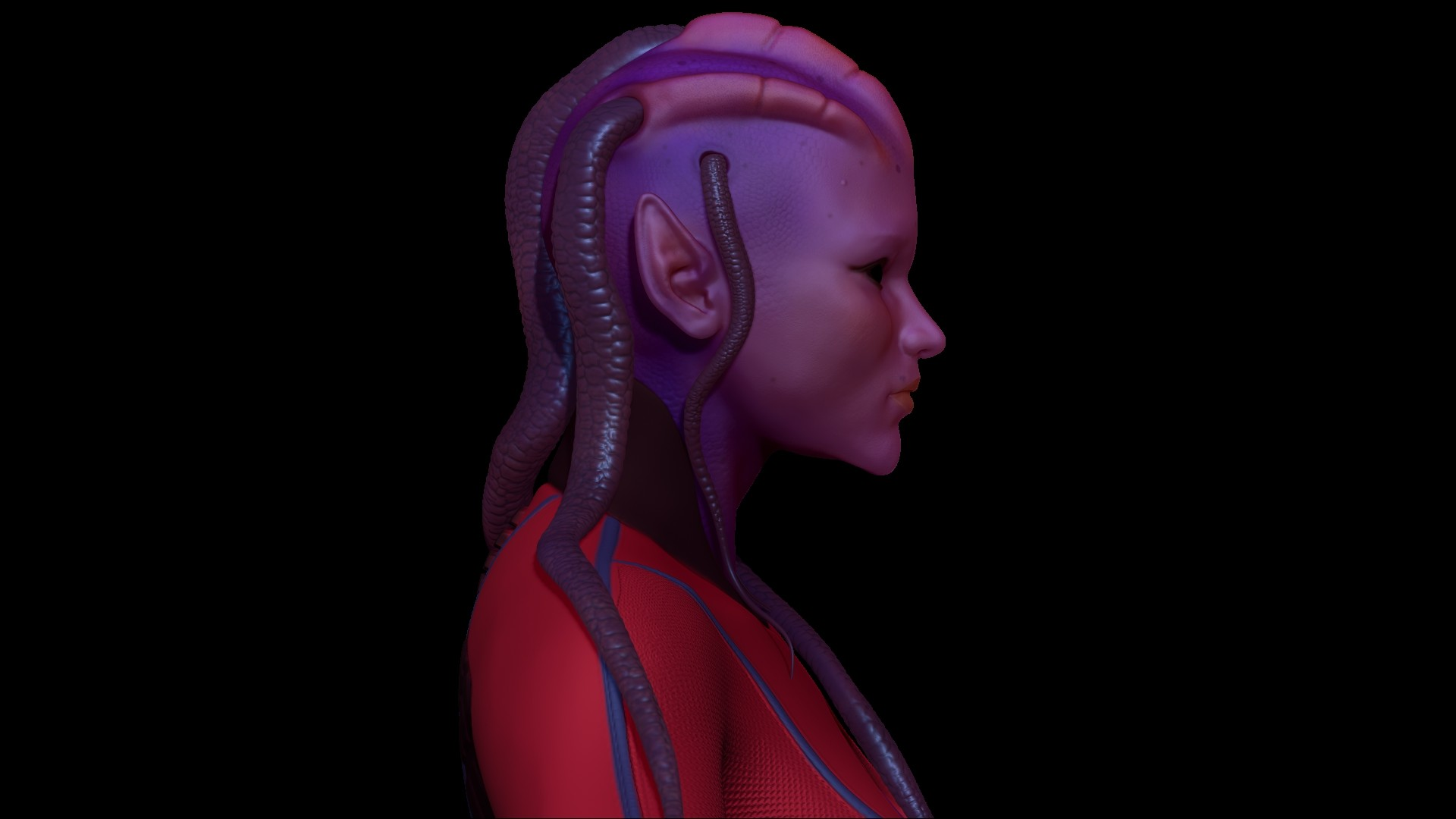 Chris rena avatar character side render