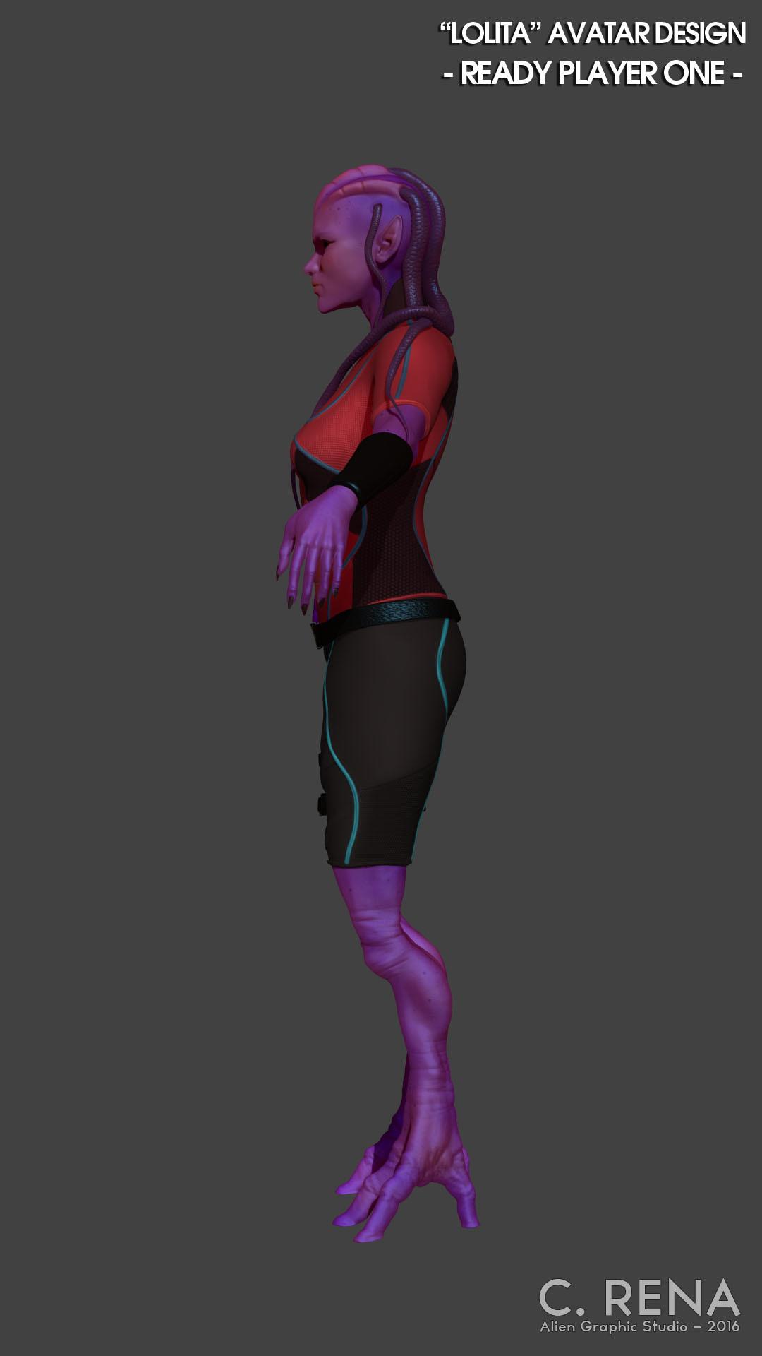 Chris rena chris rena avatar character side render