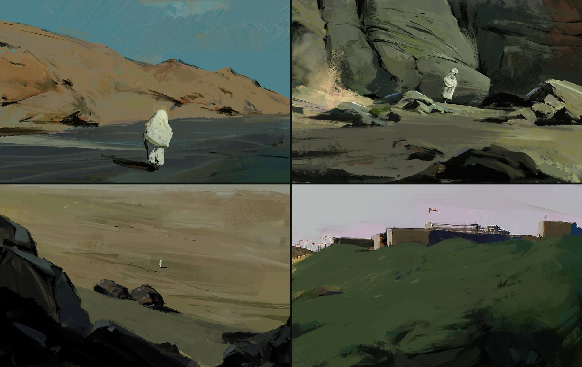 Ahmed rawi the white traveler sketches
