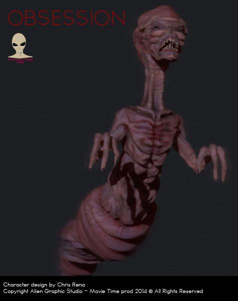 Alien worm before evolution
