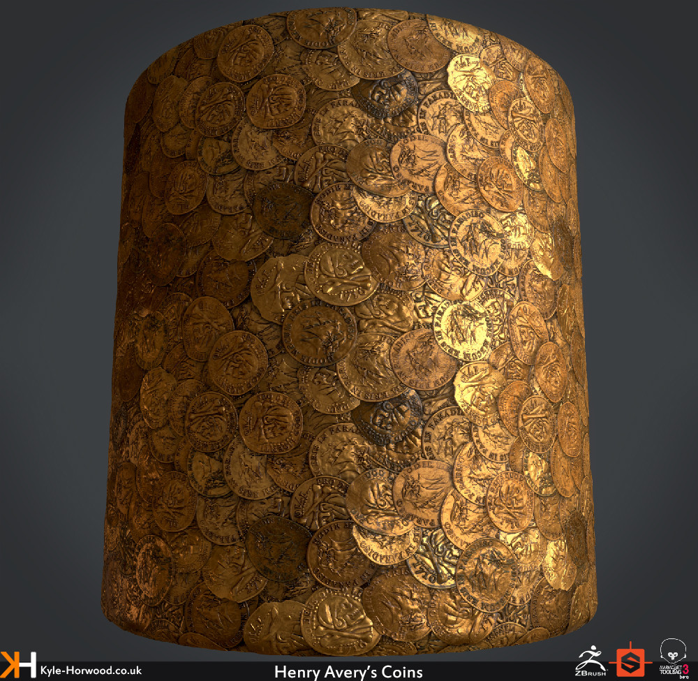 ArtStation - Henry Avery's Coins (Uncharted 4 Fan Art Texture), Kyle